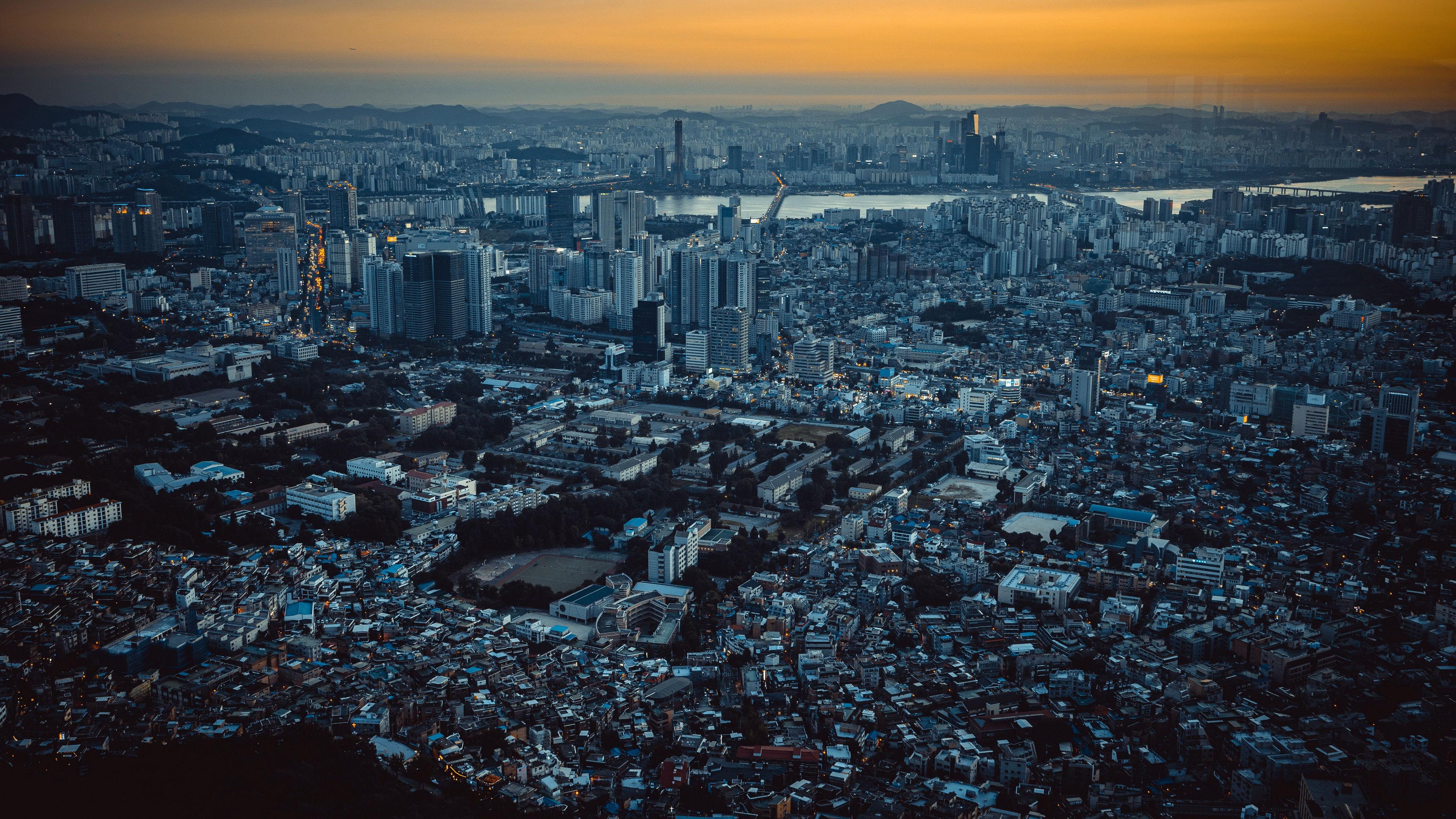 风景大片,城市夜景,航拍